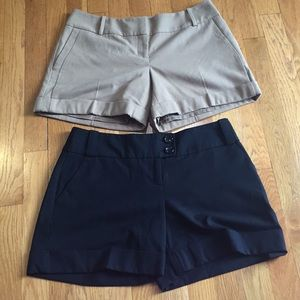 2 pair: The Limited dress shorts